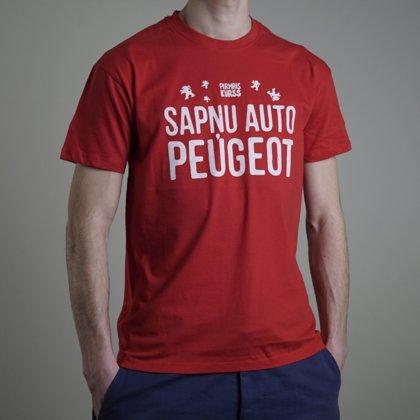 """Pirmais Kurss T-krekls """"Sapņu auto Peugeot"""""""